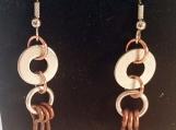 Edgy Earrings, Industrial Earrings, Hardware Earrings, Washer Earrings