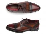 Paul Parkman Men's Bordeaux / Tobacco Derby Shoes Leather Upper and Leather Sole