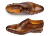 Paul Parkman Men's Captoe Oxfords Brown Leather
