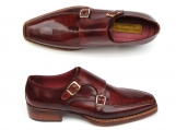 Paul Parkman Men's Double Monkstrap Goodyear Welted Shoes