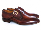Paul Parkman Men's Monkstrap Dress Shoes Brown & Camel