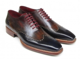 Paul Parkman Men's Wingtip Oxford Goodyear Welted Black - Colorfull