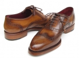 Paul Parkman Men's Wingtip Oxford Goodyear Welted Tobacco