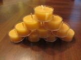 100% Natural Beeswax Tealight Candles in bulk of 300.