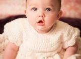 baby girl Christmas dress- baby Christmas dress- White Crocheted Christening Gown- Christening Dress-  Crocheted Baby Girl Dress-