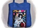 Tootles Boutique Bag - Alexander Henry Inked Designer Fabric