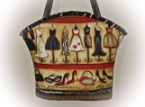 Tootles Boutique Bag - Fashionista Dresses Designer Fabric