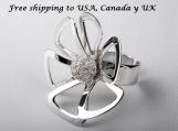 950 Sterling Silver Flower Ring