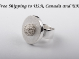 Woven Ball Ring  in 950 sterling silver