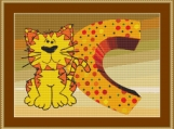 C Is For Cat Cross Stitch Pattern