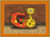 G Is For Giraffe Cross Stitch Pattern