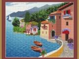 Village By The Sea Cross Stitch Pattern