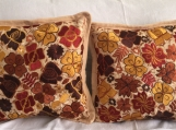 """1 pair (2 Cream pillow cover ) handwoven and embroidered pillow cover, 19.5"""" X 19.5"""" 50cm x 50cm )"""