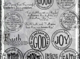 God Faith Joy Digi Word Art Set