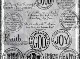 God Faith Joy Digi Word Art Set