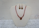 Heart to Heart necklace and earrings set