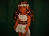 "18"" Doll Clothing - Crocheted - Bohemian Outfit"