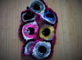 Crocheted Eyeball Infinity Scarf