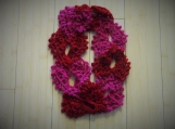 Crocheted Lace Hearts Infinity Scarf