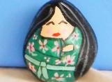 Geisha on stone