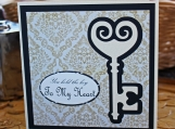 Antique Key to My Heart Card for Him