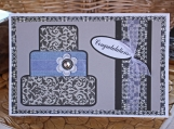 Elegant Layered Wedding Cake Card