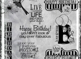 Happy Birthday Fabulous Digi Word Art Set