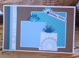 Light Blue and Brown Boys Present Card
