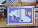 Purple Hot Air Balloon Card