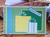 Yellow, Green and Blue Boys Present Card