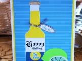 Beer Bottle Celebration Card