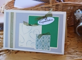 Green and Silver Wedding Present Card