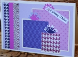 Pink and Purple Girls Birthday Present Card