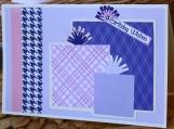 Pink, Purple and White Birthday Present Card