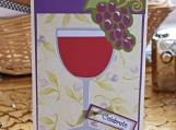Purple Wine Glass Celebration Card