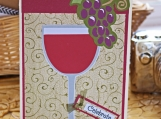 Red Wine Glass Celebration Card