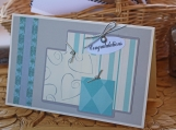Silver and Teal Wedding Present Card