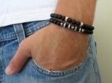Finn Men Bracelet Set - Men Beaded Bracelet - Men Gemstone Bracelet - Men Jewelry - Mens Bracelet - Mens Jewelry - Men Gift - Mens Gift