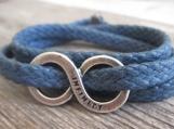 Men Bracelet - Men Infinity Bracelet - Men Jewelry - Men Gift