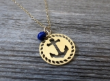 Men's Necklace - Men's Anchor Necklace - Men's Jewelry - Necklaces For Men - Jewelry For Men - Gift for Men - Anchor For Men - Men Necklace