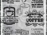 One Cup at a Time, Coffee Digi Image and Word Art Set