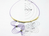 Waves and Satellites Necklace  2016 (Purple)