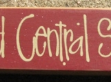 Primitive Country 82231G  Grand Central Station  Shelf Sitter Wooden  Sign