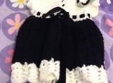 Adorable black and white fancy dress is made for a 12 mont old b