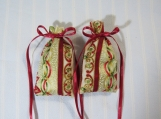 "Christmas Gold 3""X2"" Sachet-'Jingle Bell Java' Fragrance-448"