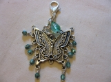 Teal and Aqua Beaded Butterfly Handbag Assessory