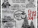 """Happy Holidays"" Digi Image and Word Art Set"