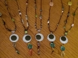 Googly Eye Necklace Multi color, black cording, 30mm googly eye