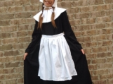 NEW Handmade Historical Play Pilgrim Girl 4pc Costume Dress Set