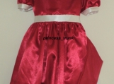 NEW Little Orphan Annie Red Satin Dress Deluxe 4 Halloween/Stage